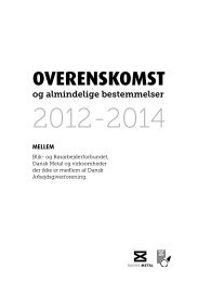 Tiltrædelsesoverenskomsten 2012 - Blik- og Rørarbejderforbundet