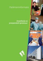 Folder Anesthesie en preoperatief spreekuur - Martini ziekenhuis
