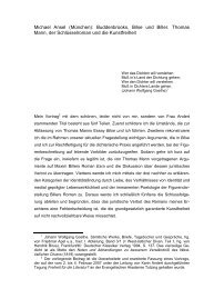 Buddenbrooks, Bilse und Biller. Thomas Mann, der Schlüsselroman