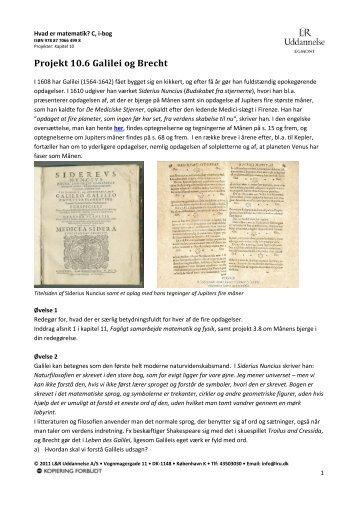"Projekt ""Brecht og Galilei"" (pdf) - Gymportalen"