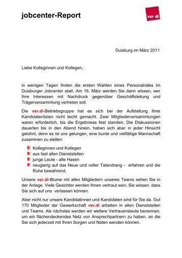 jobcenter-Report - Verdi-jobcenter.de
