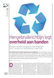 Hergebruikrichtlijn legt overheid aan banden - OpenData