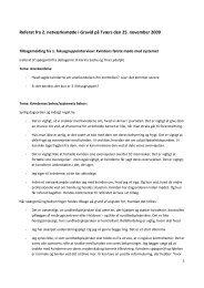 Referat fra 2. netværksmøde i Gravid på Tværs den 25. november ...