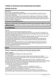Marktreglement - Gemeente Overpelt