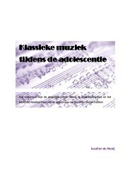 Klassieke muziek tijdens de adolescentie - De Cultuur van ...