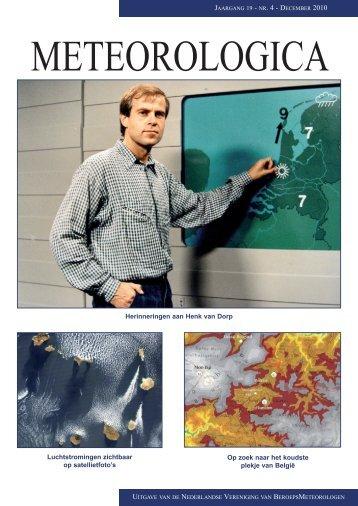 Herinneringen aan Henk van Dorp Luchtstromingen ... - Nvbm
