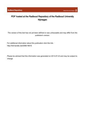 PDF hosted at the Radboud Repository of the Radboud University ...