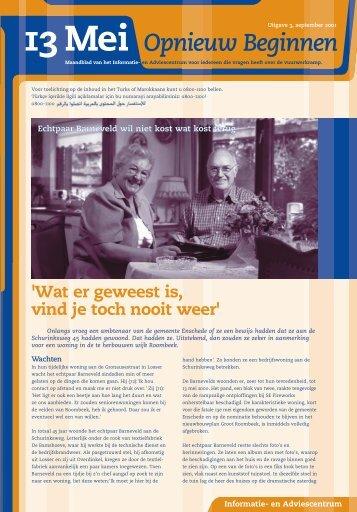 13 mei Opnieuw beginnen - Gemeente Enschede