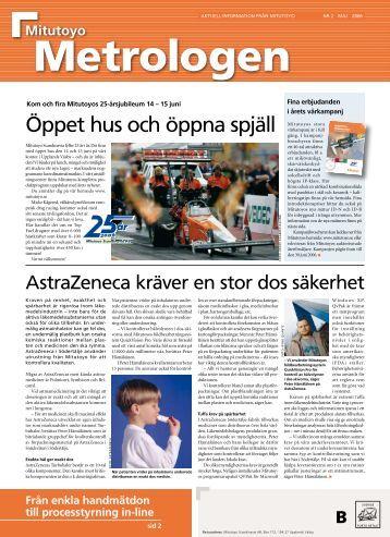 Öppet hus och öppna spjäll - Mitutoyo Scandinavia AB