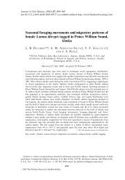 Seasonal foraging movements and migratory patterns of female ...
