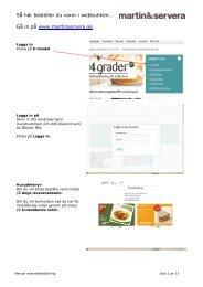 Manual e-handel - Martin & Servera