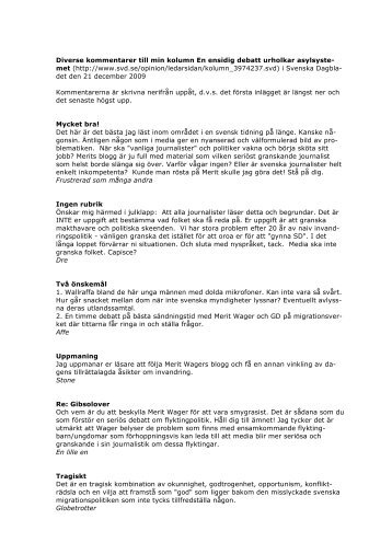 dokumentet med kommentarerna - Merit Wager