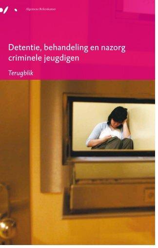 Detentie, behandeling en nazorg criminele jeugdigen - Algemene ...