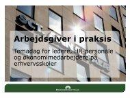Arbejdsgiver i praksis - Danske Erhvervsskoler