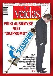 """PRIKLAUSOMYBĖ NUO """"GAZPROMO"""" - Veidas.lt"""