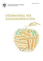 Stödmaterial för elevdokumentation - Pedagog Stockholm