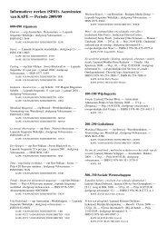 Informatieve werken (SISO). Aanwinsten van KAPE — Periode 2009 ...