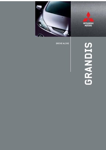 Broschyr Grandis 5d Kombi (pdf) - Mitsubishi