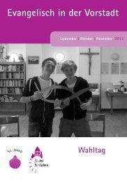 Kirchenvorstandswahl 2012 - die Kandidatinnen ... - Barfüßerkirche