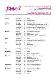 JAARPROGRAMMA 2013 - Brugse verenigingen