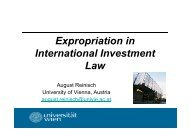 Indirect Expropriation - LL.M. in International Legal Studies