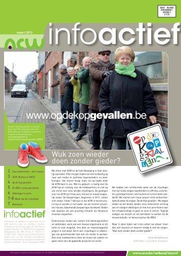 Infoactief maart 2013 - ACW regio Midden en Zuid West-Vlaanderen