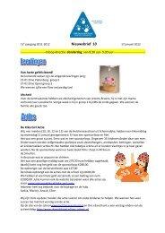 Nieuwsbrief 10, 17 Januari 2012 - Helcherseeschool
