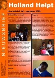 Juli/Aug. - Stichting Holland Helpt