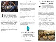 Download: A Guide to the Flavors of Virginia Oysters