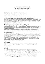Referat af bestyrelsesmøde 5. Januar 2011