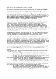Öppet brev till Alla Whippet Racare runt om i Sverige