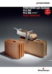 Brochure POROTHERM Lijm-Systeem 3,30MB - Wienerberger
