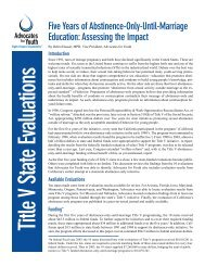 Five Years of Abstinence-Only-Until-Marriage Education: Assessing ...
