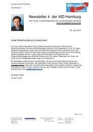 Newsletter 4 der AfD Hamburg - Alternative für Deutschland ...