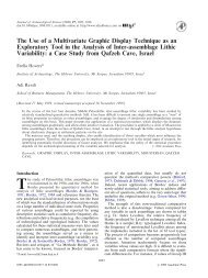 The use of a multivariate display technique in the analysis of inter ...