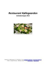 Restaurant Køllegaarden - Falster Golf Klub