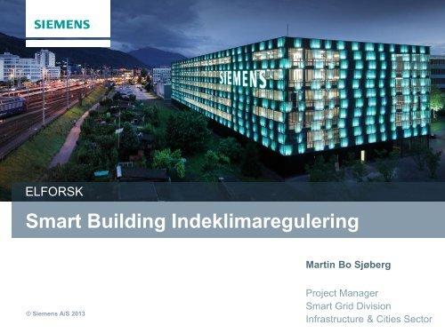 Smart Building Indeklimaregulering - Energinet.dk