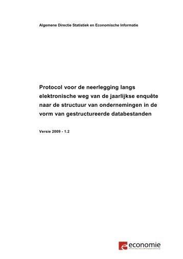 Protocol - Nationaal Instituut voor de Statistiek