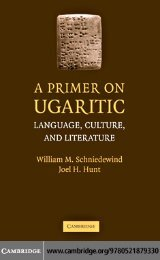 A Primer on Ugaritic: Language, Culture, and Literature - enenuru
