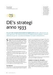 DE's strategi anno 1933 - Dansk Ejendomsmæglerforening