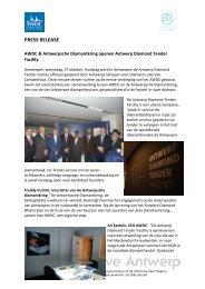 PRESS RELEASE - Antwerp World Diamond Centre