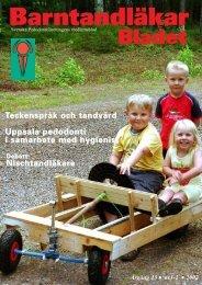 Nr 1 & 2 - Svenska Pedodontiföreningen