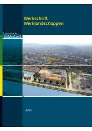 Werkschrift Werklandschappen - Ruimte voor...