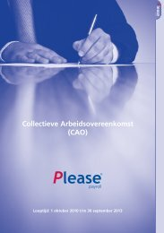 Collectieve Arbeidsovereenkomst (CAO) - Please