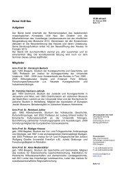 Beirat VLM Neu Aufgaben Mitglieder