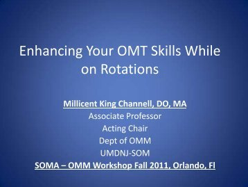 Enhancing Your OMT Skills While on Rotations - Student ...