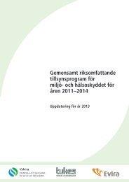 och hälsoskyddet för åren 2011 - Valvira.fi