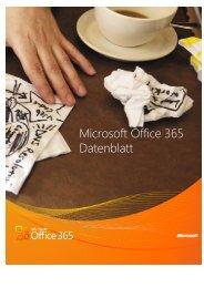 Office 365 – Datenblatt - Microsoft Office 365