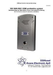 SSI 2600.8001 GSM porttelefon system