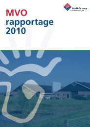 MVO rapportage 2010 - VanDrie Group